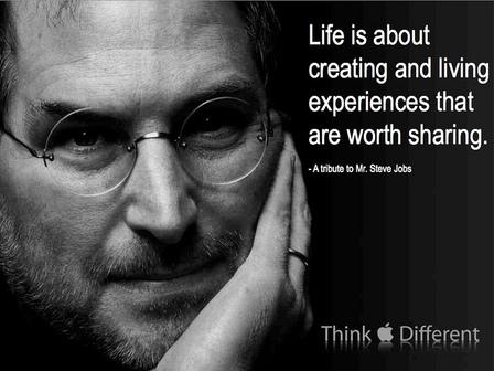 La vida se trata de crear y vivir experiencias que vale la pena compartir ... Un homenaje al Sr. Steve Jobs - 1955-2011   Flickr - Photo Sharing!    Steve Jobs: Un maestro pensador   Scoop.it